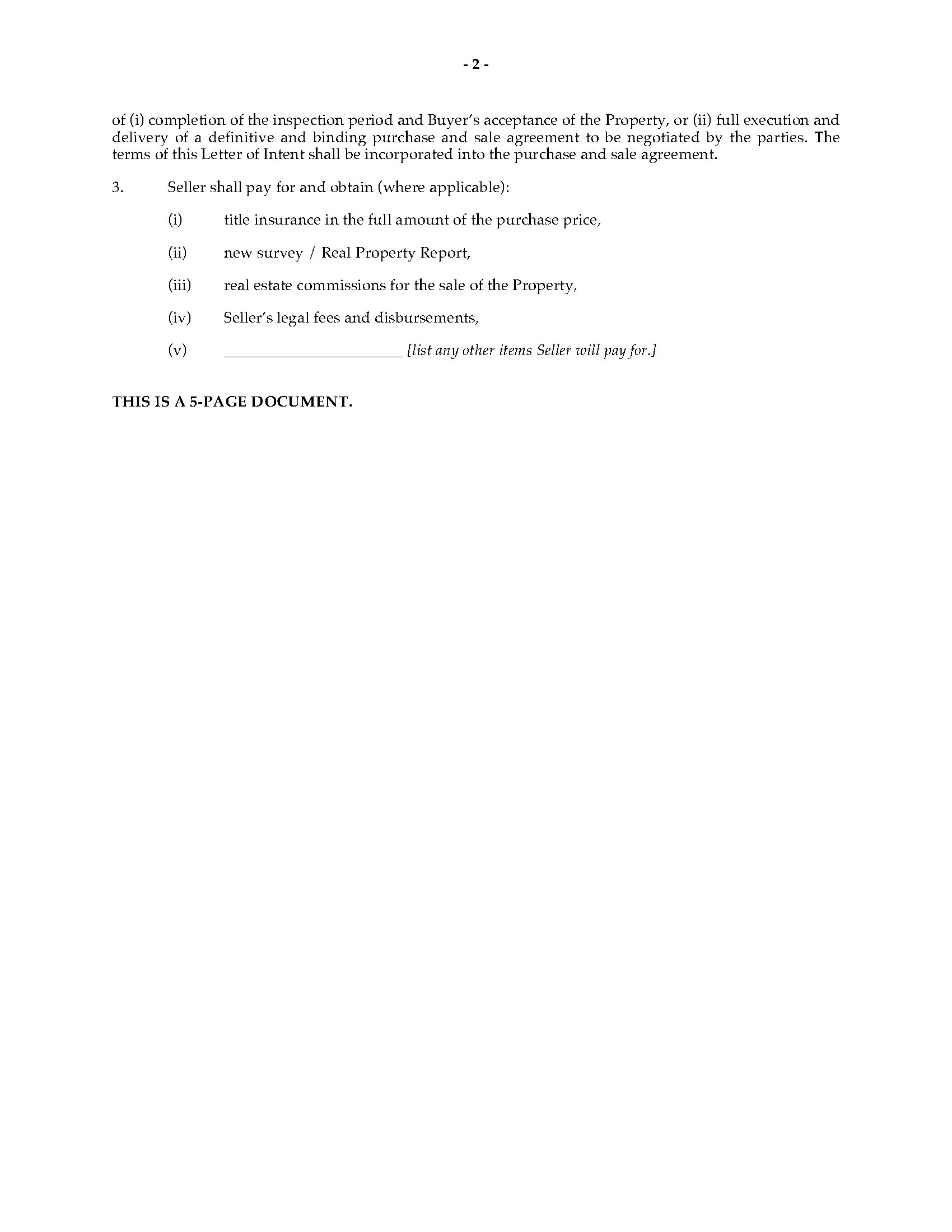 letter of intent to purchase business pdf