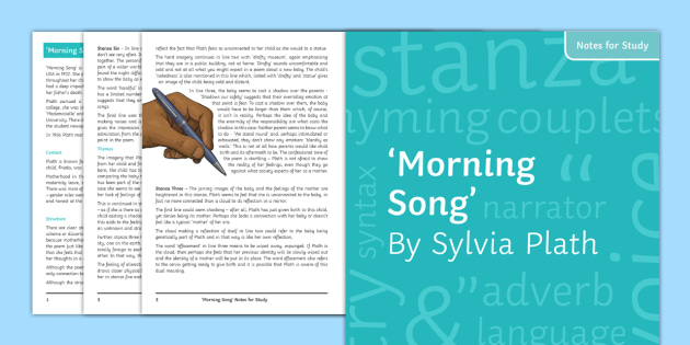 morning song sylvia plath analysis pdf