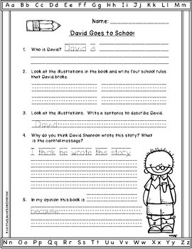 david goes to school by david shannon pdf