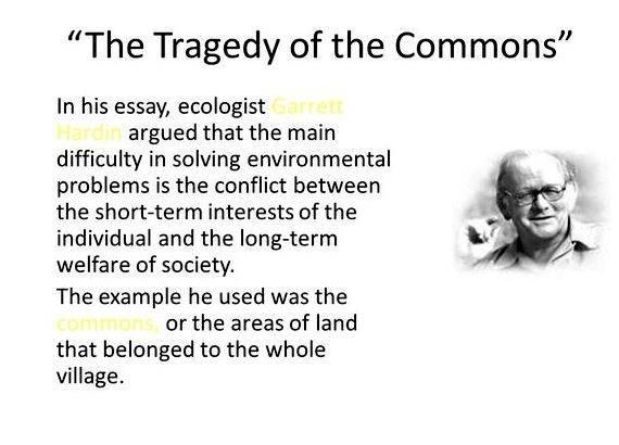 garrett hardin tragedy of the commons article pdf