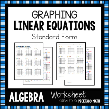 graphing linear equations using a table worksheet pdf