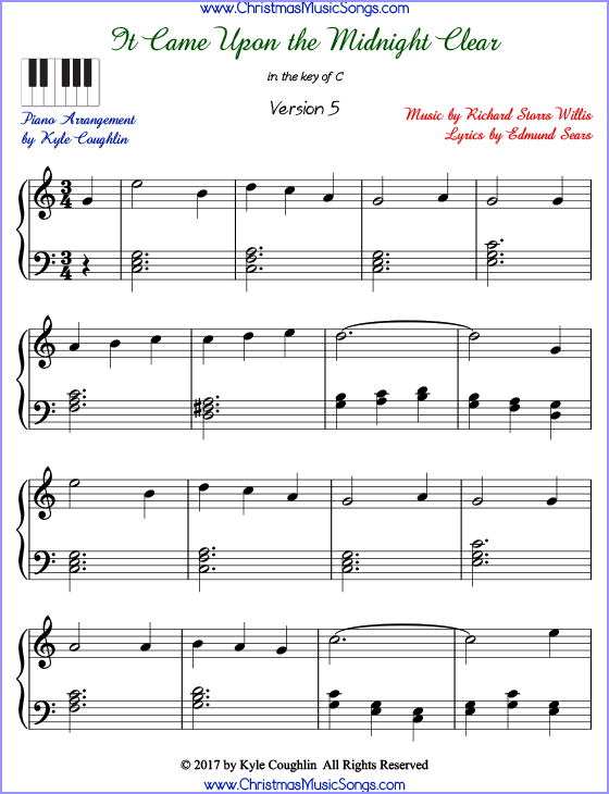 it came upon a midnight clear sheet music pdf