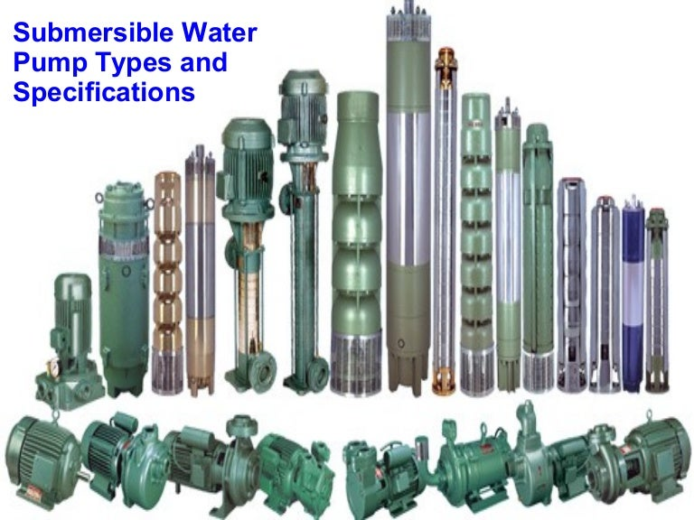 types of water pumps pdf
