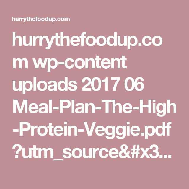 high protein vegetarian diet plan pdf