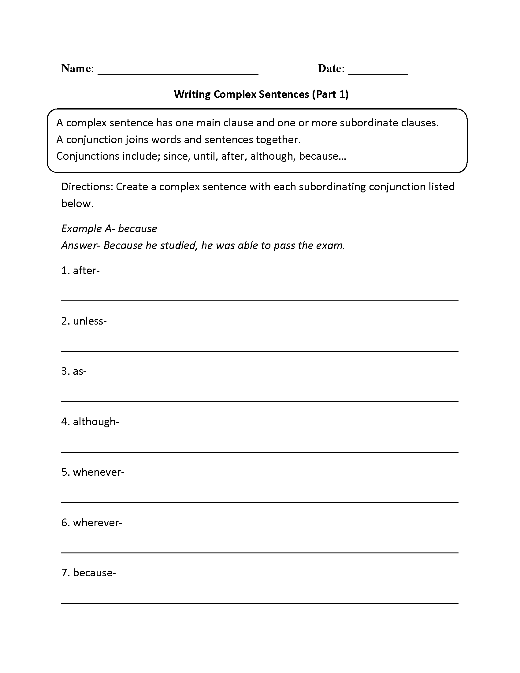 phrases and clauses worksheets pdf