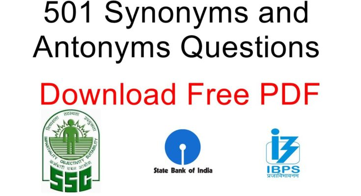antonyms and synonyms for bank exams pdf