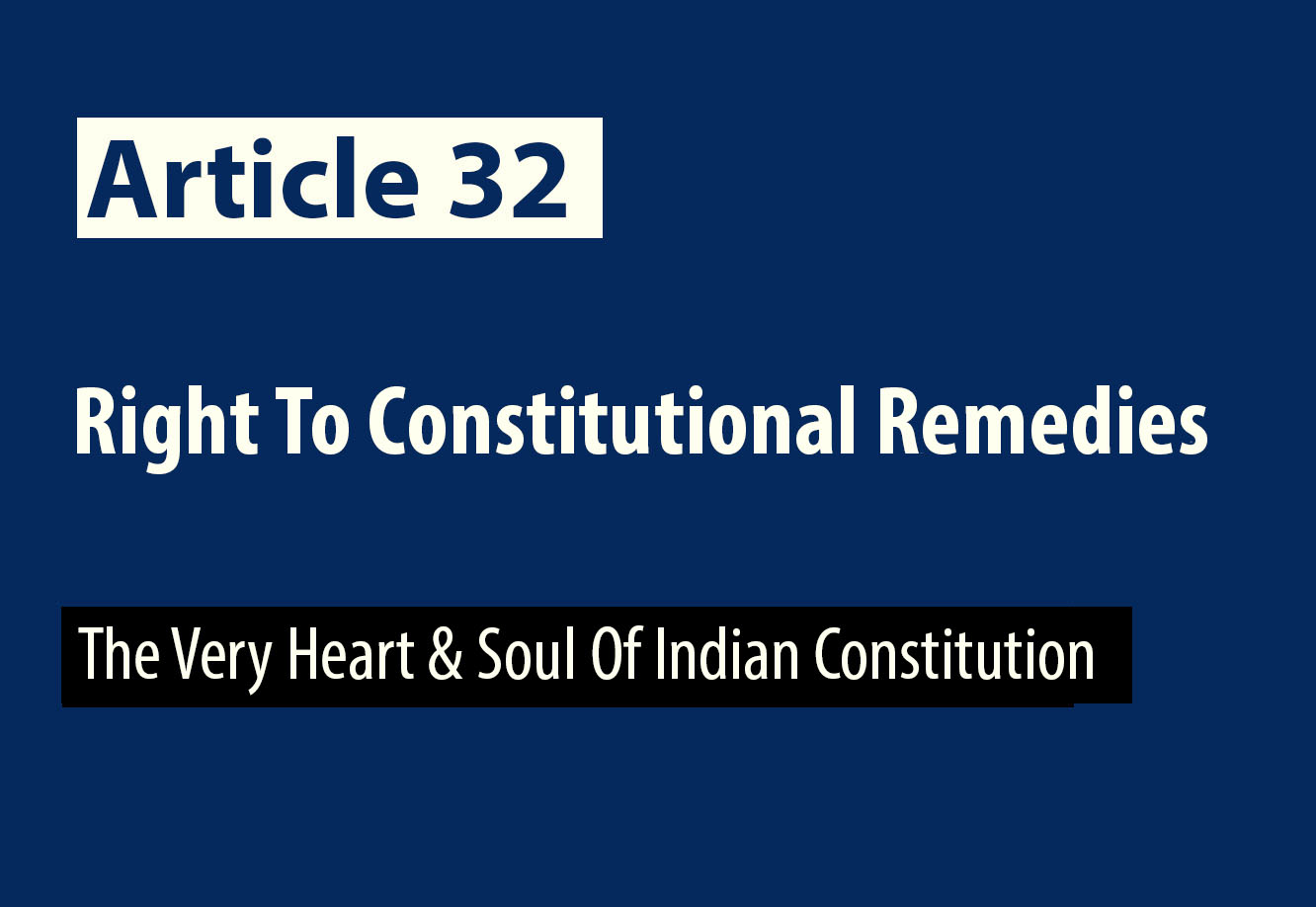 article 32 of indian constitution pdf