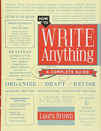 how to write anything pdf