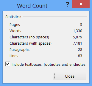can you do a word count in a pdf file