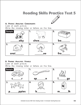grade 1 english exam papers pdf