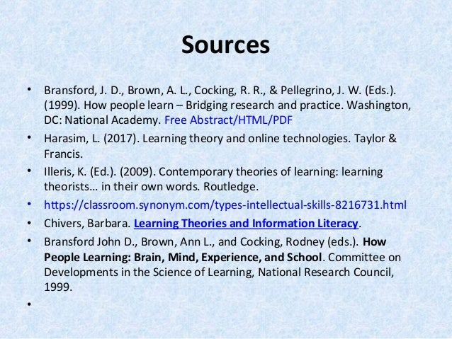 learning theory and online technologies harasim pdf