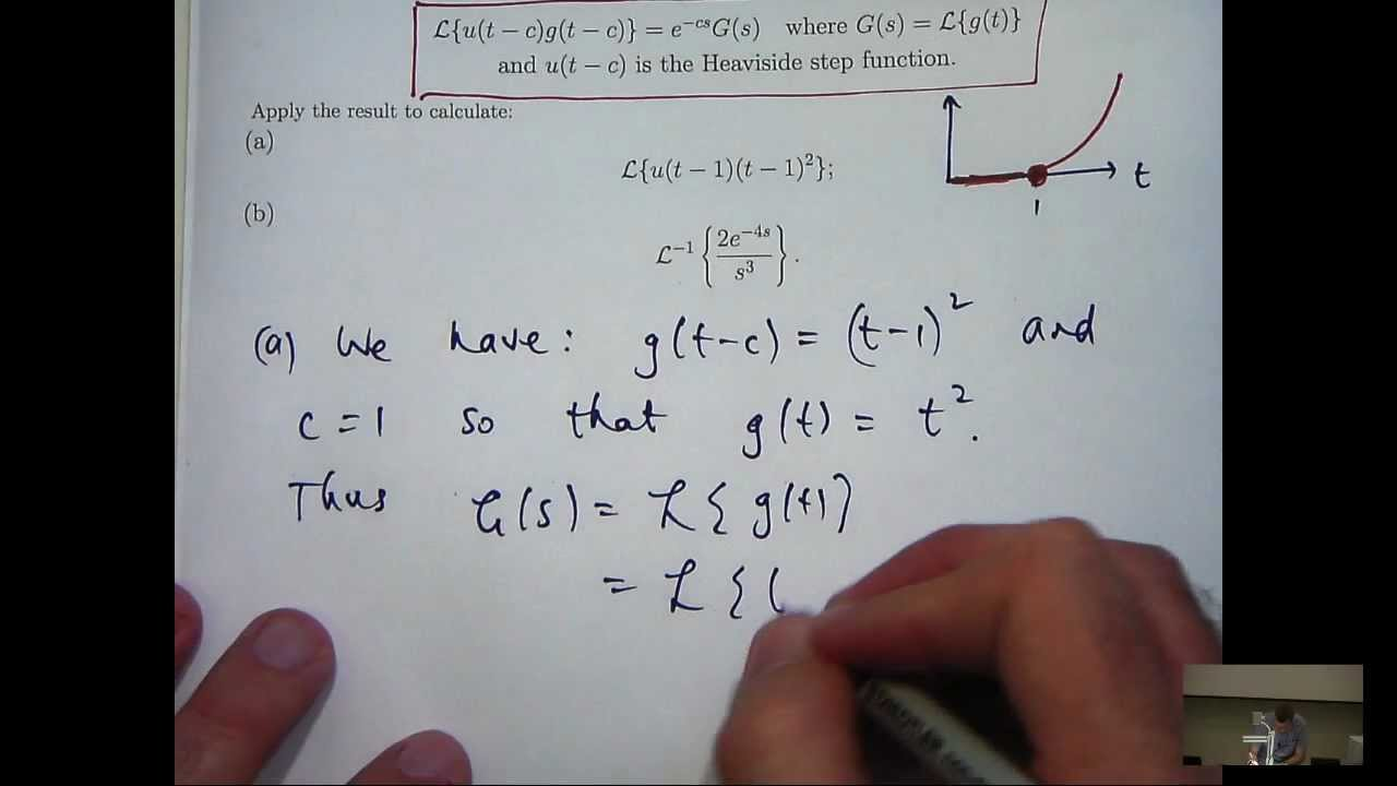 second shifting theorem laplace transform examples pdf