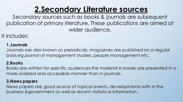 what are the sources of literature review pdf